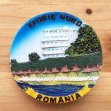 De goed-verkochte Magneet van de Koelkast van Polyresin van de Gift van de Herinnering van de Vlekken van de Toerist van Roemenië 3D