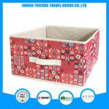 2017 Impreso de flores Non-Woven Popular Cuadro de la bolsa de almacenamiento de la caja plegable