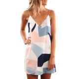 Оптовая торговля мода леди тропических пальм печать Короткое платье
