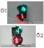 300mmの秒読みのタイマーが付いている赤い緑の通行人の往来ライト