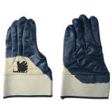 Gant Semi-Enduit du Jersey de nitriles bleus de doublure (5017)