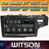 De Auto DVD van het Scherm van de Aanraking van de Vensters van Witson voor de Pasvorm 2014 Rhd van Honda