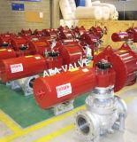 中国の工場は自動電子作動させた止められたモーターを備えられた球弁フランジを付けたようになった
