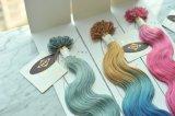 As melhores cores Pre-Ligadas de Ombre do cabelo do cabelo humano (cabelo da queratina de Italy)