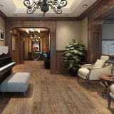 15X60 естественной древесины дерева пол керамическая плитка в гостиной