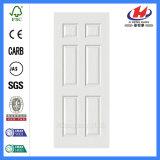 Литые Внутренних Дел гладкий деревянный белого цвета грунтовки двери кожи (JHK-006)