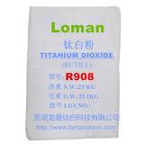 Tipo blanco TiO2, marca de fábrica del rutilo de la potencia de la alta blancura del dióxido Titanium R908 Loman del rutilo de la pureza elevada