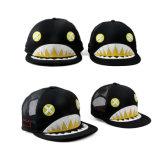 흑백 편평한 테두리 트럭 운전사 모자 (JRT105)를 인쇄하는 여가
