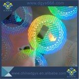 Etiqueta holográfica do efeito de alumínio da lavagem