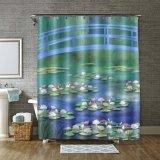 Piscina de verano moda impreso hecho personalizado Polyester cortina de ducha