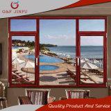 Color madera de gama alta salto térmico aluminio Casement Window