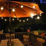 Luz de decoração 48 FT string externa LED acende a lâmpada S14 Luz de Cadeia pela iluminação do Proxy - UL listado para festas, casamentos, pátio com jardim