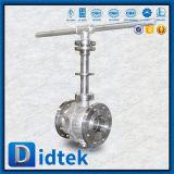 Bal Vlave van de Tap van Didtek CF8m de Zachte Verzegelende met de Uitbreiding van de Stam