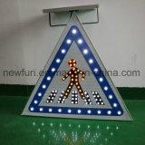 Setas de sinaleira direcional LED Tráfego Solar de sinal de tráfego da Luz de Advertência