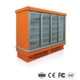 Aufrechter Glastür-Gefriermaschine-Supermarkt-Schaukasten