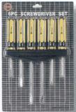 Chave de Fenda da ferramenta Definir os PCS 6 fendas na placa Blister