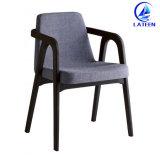 現代デザインファブリック椅子を食事する快適なあと振れ止めのArmrestの宴会