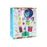Bolsa de papel del regalo del juguete de la ropa del presente del elefante rosado del cumpleaños