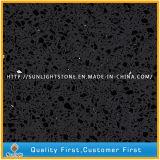 Pietra nera del quarzo di rossoreare di colore per Worktops e le lastre