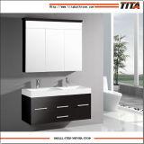 Europäische Hotel-Toiletten-großer klassischer weißer und schwarzer Farben-Schrank für Badezimmer-Schrank
