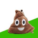 Cambio de la carpeta del Emoticon suave de Emoji de la felpa de la almohadilla de la bolsa 3D Poo de la carpeta del monedero de la moneda el pequeño frunce el bolso del bolso del dinero