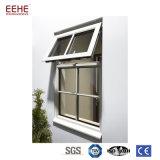 Hölzernes Korn-fertiges Aluminiumflügelfenster-Fenster und Tür mit doppeltem Glas