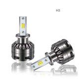 O diodo emissor de luz IP65 impermeável 30W 6000lm 6500K 2300K S5 das peças de automóvel Dual o farol H7 do diodo emissor de luz da cor