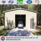 Tettoia prefabbricata personalizzata europea dell'automobile della struttura d'acciaio di basso costo