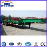 TransportGooseneck Lowboy des China-gehen weißer Exkavator-3axles/niedrig/Lowbed halb LKW-Schlussteil zu Bett