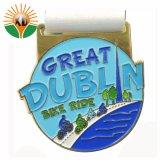 Medaglia molle del metallo dell'oro dello smalto di grande di Dublino giro della bici