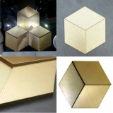 Hexagonal fleur Plaque décorative en acier inoxydable 570