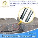 Het slijtvaste Hoofd van de Hamer van de Materialen Mn13cr2 van het Carbide Bimetaal Samengestelde Gietende