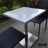 Pedra artificial superfície sólida de acrílico mesa de jantar em mármore branco