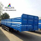 3 4 Behälter-Transport-flaches Bett-halb LKW-Schlussteil der Wellen-40FT mit der Seitenwand wahlweise freigestellt