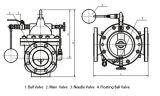 válvula de controle do flutuador 100X
