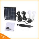 가정 야영 천막을%s 2개의 LED 전구를 가진 휴대용 태양 에너지 조명 시설
