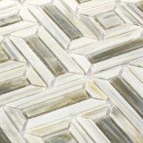 Azulejos de mosaico de cristal grises para el suelo del cuarto de baño de la cocina