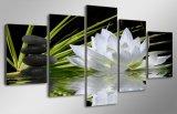 Напечатанная HD холстина изображения плаката печати декора комнаты лотоса и печати холстины картины камней