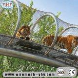Hand het Geweven Opleveren van het Netwerk van de Kabel van Roestvrij staal 304 Decoratieve