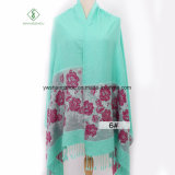 2017 Dernières Roses foulard Jacquard Fashion Châle coton Pashmina acrylique