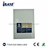 Nieuwe LCD van de Aankomst Video kaart-VideoBrochure 7 Duim voor Bevordering