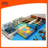 Kids Plastic LLDPE Indoor Playground with Park Trampoline