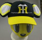 Allover&Nbspの方法トラック運転手の帽子; Printing&Nbsp; Eyepatchおよびプラシ天の耳
