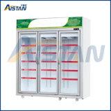 Refroidisseur commercial de bouteille d'étalage d'étalage de réfrigérateur de la porte Mlg-1630 trois