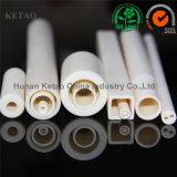 Tubo di ceramica dell'allumina di elevata purezza 99 per la fornace del riscaldatore, allumina Rohi solidi di ceramica, tubi porosi di ceramica, tubi protettivi di ceramica, tubi quadrati di ceramica