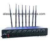 Jammer сигнала мобильного телефона GPS WiFi силы 8CH 80W регулируемый для тюрьмы