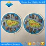 Absorción de agua de impresión personalizadas posavasos con Logo