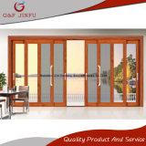 Multi Panel de vidrio doble exterior puerta corrediza de aluminio con pantalla de insectos