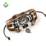 Nodo Braided registrabile del braccialetto dei braccialetti del braccialetto degli elementi promozionali di cuoio a più strati casuali poco costosi del regalo