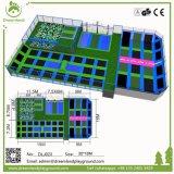 Erwachsener Eignung-Trampoline-Park, extreme Parkour Trampoline-Arena mit Hindernissen